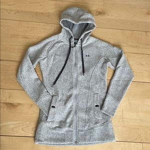 Under Armor fleece zip up semi fitted size small